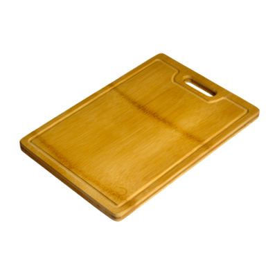 ECO Flattened Bamboo Cutting Board With Groove & Handle