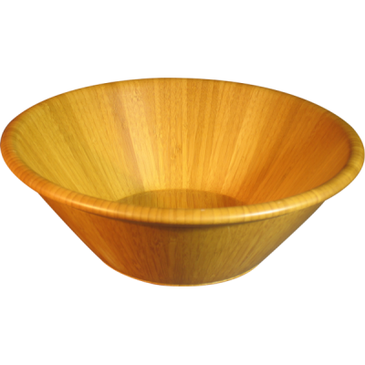 Large Beads Rim Tapered Bamboo Bowl