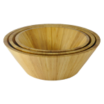 Classic Tapered Bamboo Salad Bowl